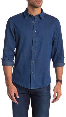 Slate & Stone Regular Fit Dark Denim Button Down Shirt