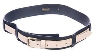 Max Mara Leather Wide Belt Black Leather Wide Belt