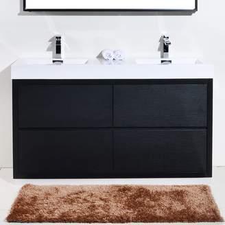 "Wade Logan Tenafly 59"" Double Bathroom Vanity Set Base"