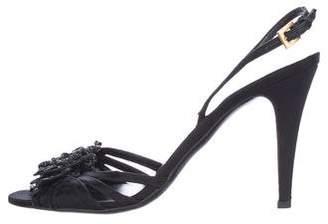 Valentino Embellished Slingback Sandals