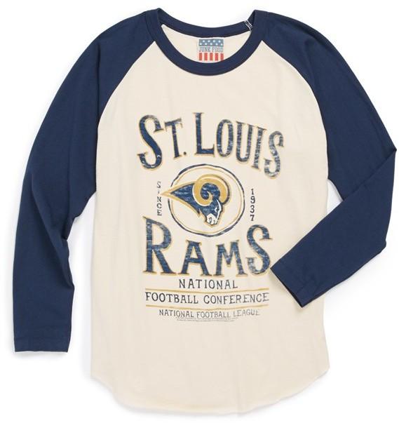 Junk Food 'St. Louis Rams' Raglan Long Sleeve T-Shirt (Toddler Boys)