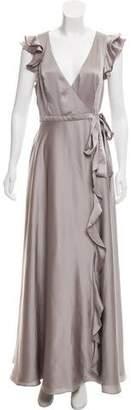 Fame & Partners Ruffled Evening Dress