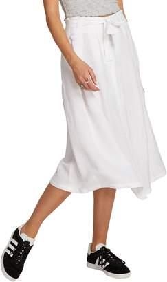 Volcom Deep Tracks Linen Blend Midi Skirt