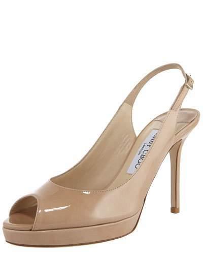 Jimmy Choo Nova Patent Platform Slingback Sandal