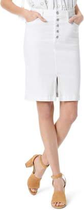 Joe's Jeans Button Fly High Waist Denim Pencil Skirt