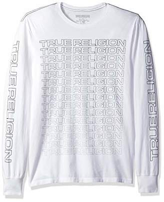 True Religion Men's Fade True LS Crew Neck TEE