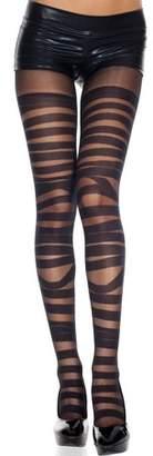 Music Legs Bandage design spandex pantyhose 7296-BLACK