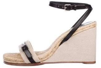 PeepToe Hermà ̈s Peep-Toe Ankle Strap Wedges Beige Hermà ̈s Peep-Toe Ankle Strap Wedges