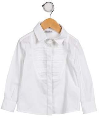 Dolce & Gabbana Girls' Long Sleeve Button-Up Top