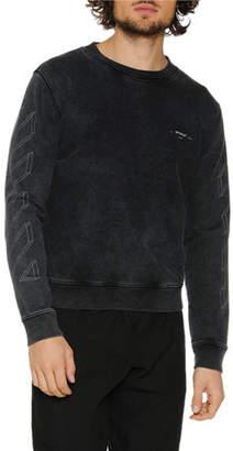 Off-White Men's Diagonal 3D Lines Crewneck Sweatshirt