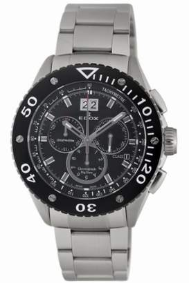 Edox Men's 'Class-1' Swiss Quartz Stainless Steel Sport Watch