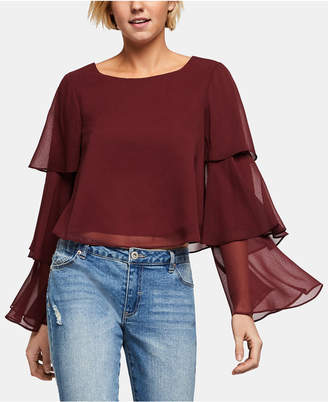 BCBGeneration Tiered Bell-Sleeve Top