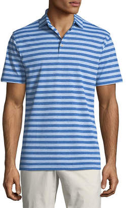 Peter Millar Men's All The Way Donegal Stripe Polo Shirt