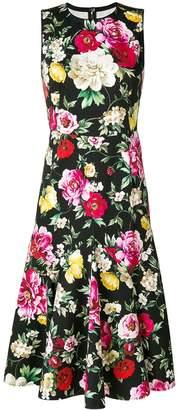 Dolce & Gabbana Ruffle Midi Dress