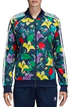 adidas SST Floral Triple Stripe Track Jacket