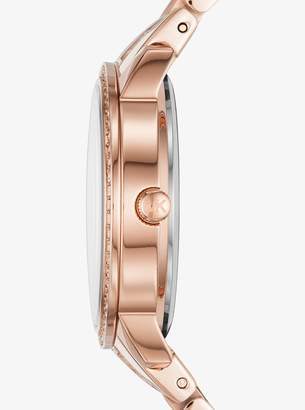Michael Kors Nini Pave Rose Gold-Tone Watch