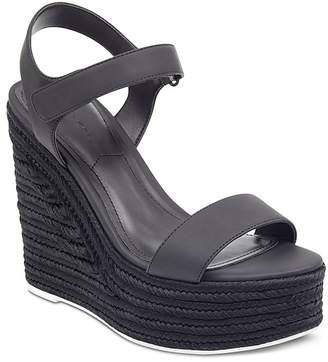 KENDALL + KYLIE Women's Grand Platform Wedge Espadrille Sandals