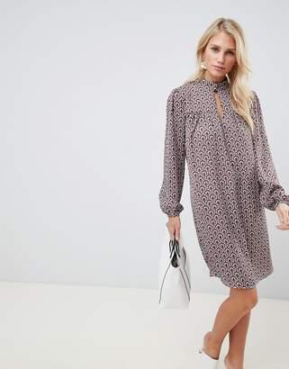 Vila vintage print shift dress