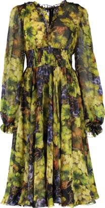 Dolce & Gabbana Grape Print Dress