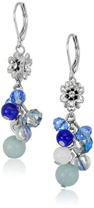 lonna & lilly Silver-Tone and Beaded Shaky Drop Earrings