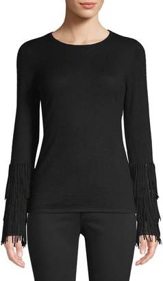 TSE X Sfa Fringe-Cuffed Cashmere Sweater