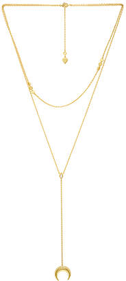 Wanderlust + Co Crescent Diamante Layered Necklace