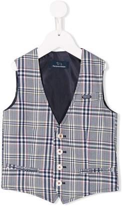 Harmont & Blaine Junior button checked waistcoat