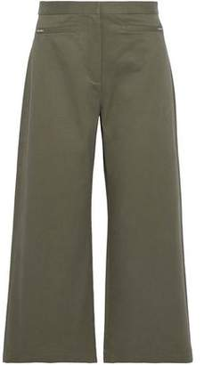 Alexander Wang Stretch-Cotton Twill Wide-Leg Pants