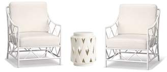 Pottery Barn Chat Set (Two Occasional Chair Frames, One Side Table)