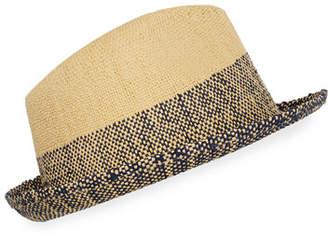 4ec738a169234 Paul Smith Men s Two-Tone Straw Trilby Hat