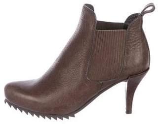 Pedro Garcia Leather Round-Toe Booties