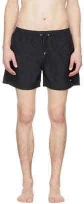 McQ Black Swallow Swim Shorts