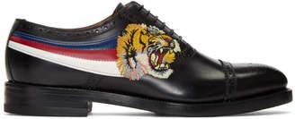 Gucci Black Tiger Appeal Brogues