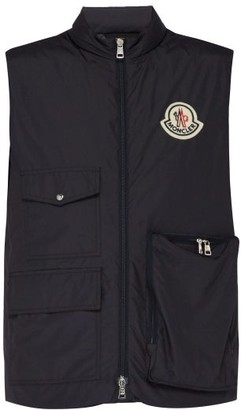 Moncler 2 1952 - Patch Pocket Quilted Down Gilet - Mens - Dark Navy