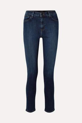 """J Brand Ruby 30"""" High-rise Slim-leg Jeans - Dark denim"""