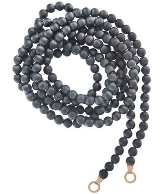 Marla Aaron Hematite Strand Necklace with Rose Gold Loops