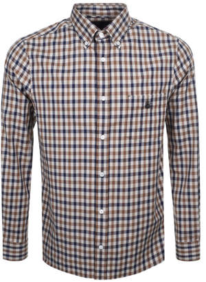 Aquascutum London York Club Check Shirt Brown