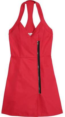 Victoria Beckham Victoria Open-Back Zip-Trimmed Twill Mini Dress