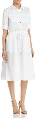 Donna Karan Drawstring Waist Shirt Dress