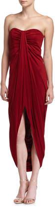 Michael Kors Strapless Silk Gown, Cinnabar