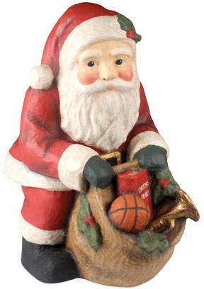 Bethany Lowe Santa with Bag Large Paper Mache Christmas Decor