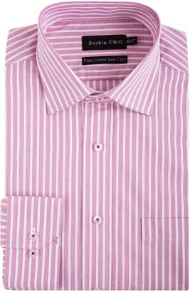 at House of Fraser Men's Double TWO Striped Band Patterned Formal Shirt