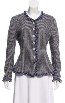 Theyskens' Theory Tweed Pattern Long Sleeve Blazer