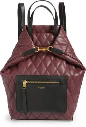 Givenchy Duo Quilted Faux Leather Backpack