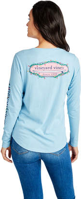 Vineyard Vines Long-Sleeve Slub Holiday Lights Burgee Tee
