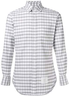 Thom Browne Gingham Straight-Fit Oxford Shirt