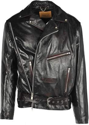 Martine Rose Martin Rose Wrap Leather Jacket