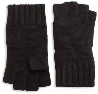 Portolano Men's Solid Knit Cashmere Gloves