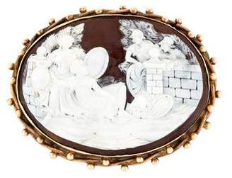14K Shell Cameo Brooch