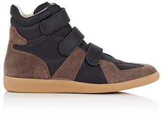 Maison Margiela Men's Suede & Leather Triple-Strap Sneakers